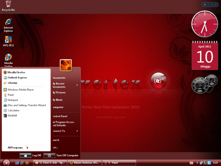 Windows XP Vortex 3G Red Edition ISO Free Download - OneSoftwares