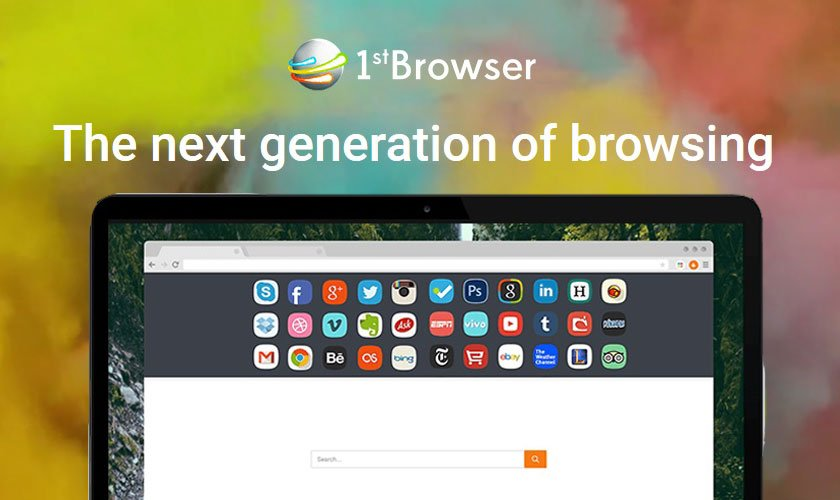 1st Browser Free Download Dashboard Image