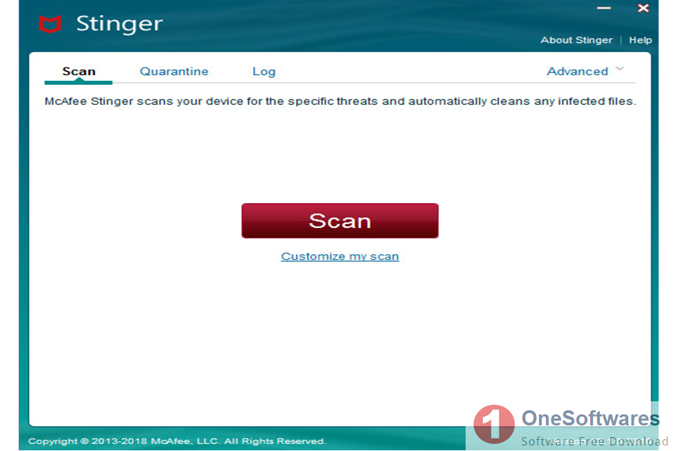 McAfee Labs Stinger 12.1.0.3218 Free Download